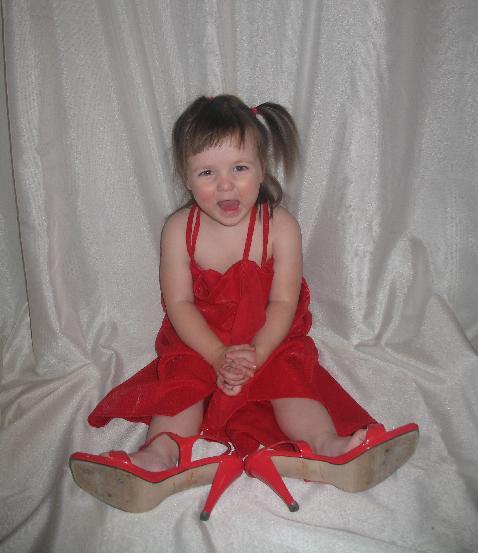 Это красное платье для чего ты надела?
