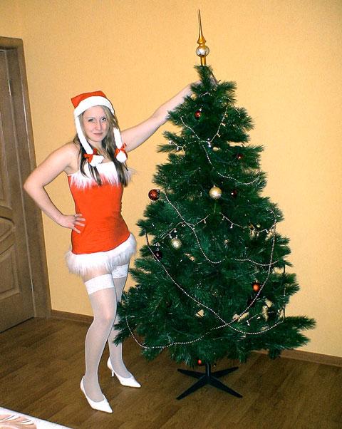 лучший подарок мужу- жена Санта Клаус