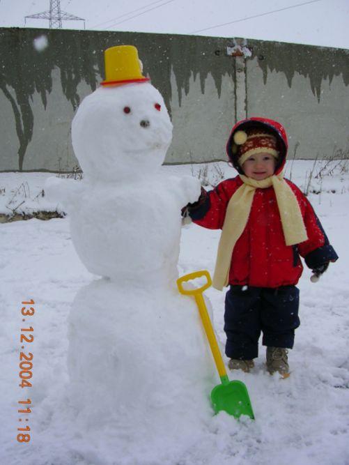 моя подруга - снежная баба Лиза