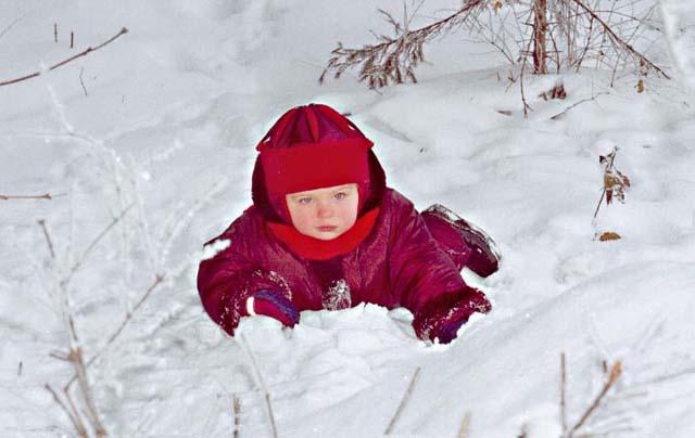 Мам, а можно спать на снегу?