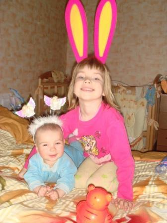 ангелочек и кролик