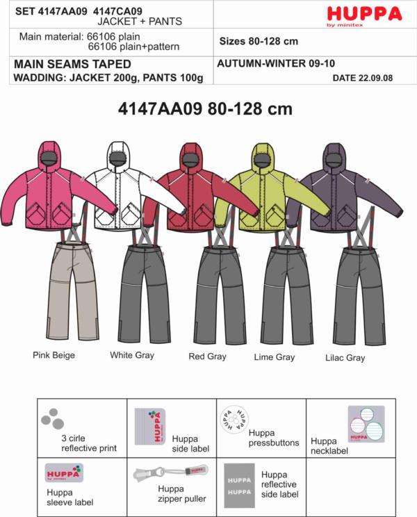 4147AA09 Kids Set = jacket+pants, размеры 80-134