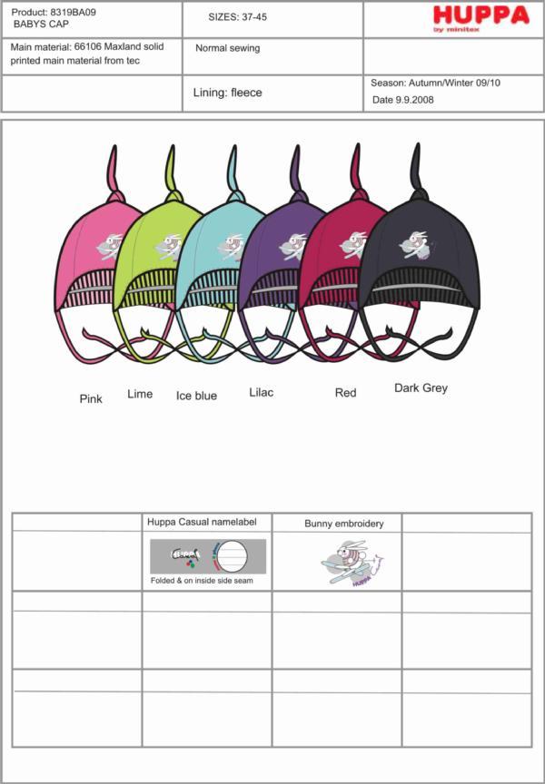 8319BA09 Baby`s Hats, размеры 41,43,45