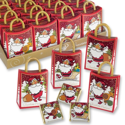 Сумочка Деда Мороза с шоколадками 7605