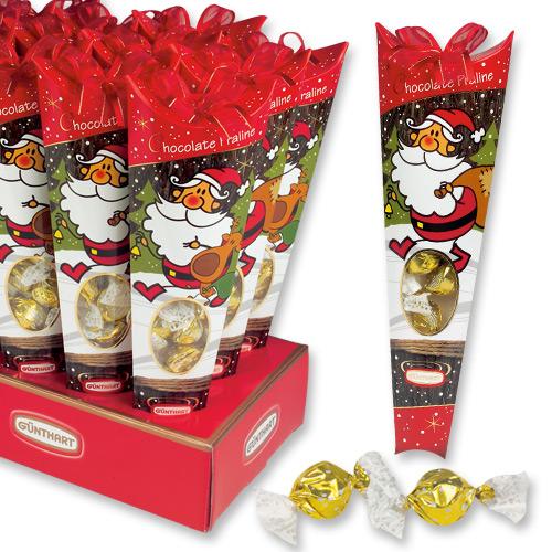 Новогодний конус с конфетами 7608*